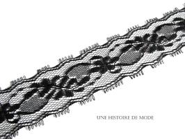 1 mètre de dentelle noire - 33 mm de largeur - D76