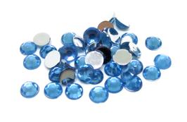 100 strass 4 mm en acrylique bleu clair  - CCW38