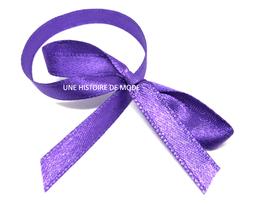1 mètre de ruban en satin violet - 6 mm