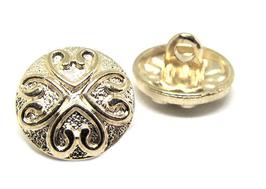 Bouton en métal doré - 13 mm -  B026T