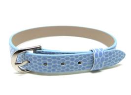 Bracelet en simili cuir bleu clair - 22 cm - BB10