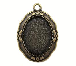 Support pendentif cabochon en métal bronze - RZZ94