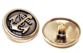 Bouton Marin en métal doré  22 mm  à coudre - B021T