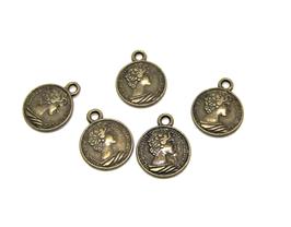 5 Breloques pièces de monnaie anglaises bronze - RZZ187