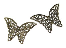 2 estampes filigrane papillon couleur bronze - E5