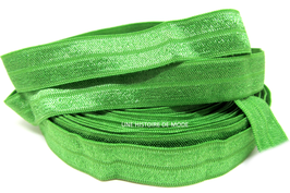 Ruban élastique vert olive uni - 15 mm - vendu au mètre