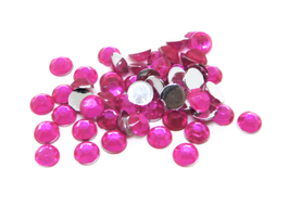 100 strass 4 mm en acrylique rose  - CCW56
