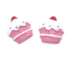 2 cabochons cupcake en résine - 18 x 21 mm - CCW2