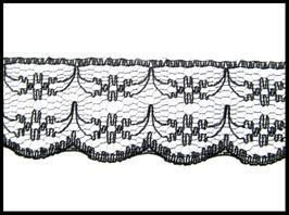 5 M de dentelle noire 20 mm de largeur - D48