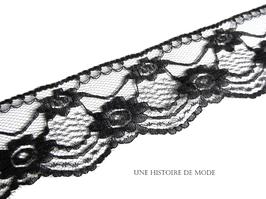 1 mètre de dentelle noire - 50 mm - D140