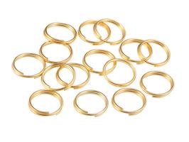 20 Anneaux doubles 8 mm en métal doré