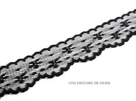 1 mètre de dentelle noire - 28 mm  - D50