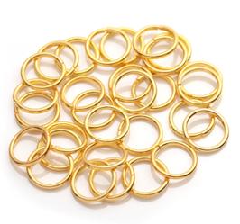 50 anneaux ouverts en métal doré - 7 mm