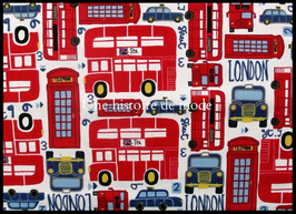 Tissu LONDON en coton  - 50 x 45 cm - Coupon T87
