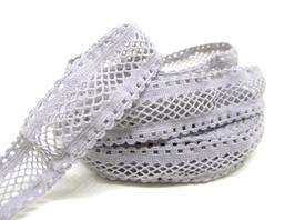 Ruban élastique résille gris - 15 mm