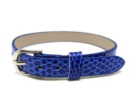 Bracelet en simili cuir bleu roi - 22 cm - BB09