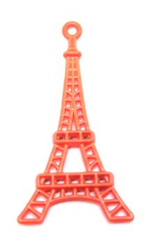 Breloque Tour Eiffel - métal couleur orange - 44 x 24 mm