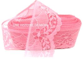 1 mètre de dentelle rose corail de 40 mm de largeur - D89