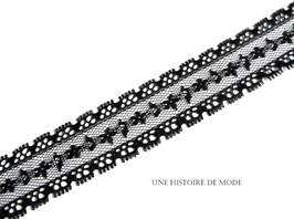1 mètre de dentelle noire - 25 mm de largeur - D99