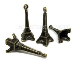 4 Breloques tour Eiffel bronze