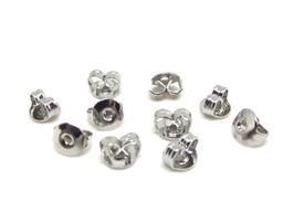 10 attaches poussoirs pour boucles d'oreilles en métal argenté