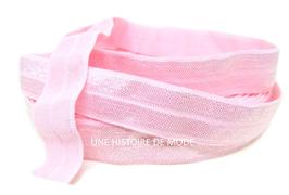 Ruban élastique rose clair - 15 mm  ( au mètre )