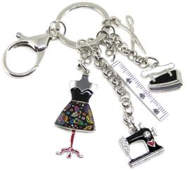 Porte-clés couture en métal  - 79 x 66 mm
