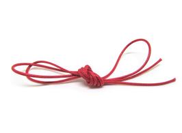 1 mètre de Cordon coton ciré lustré rouge 1 mm
