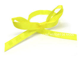 1 mètre de ruban en satin jaune - 6 mm