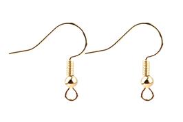 10 crochets hameçons en métal doré pour boucle d'oreilles