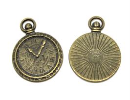 2 Breloques montre gousset en métal bronze 28 x 21 mm