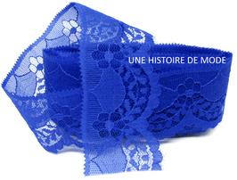 1 mètre de dentelle bleu roi de 40 mm de largeur - D90