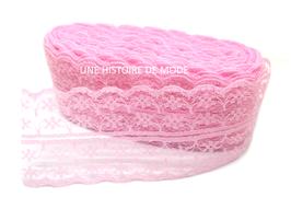 Dentelle rose séparable de 45 mm de largeur -  D68