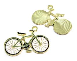 Breloque vélo en émail - 27 x 18 mm