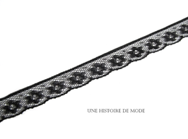 1 mètre de dentelle noire - 12 mm  - D38