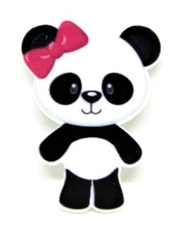 Cabochon panda en résine -  37 x 26 mm