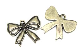 2 Breloques noeud en métal bronze - 23 x 19 mm - TR047