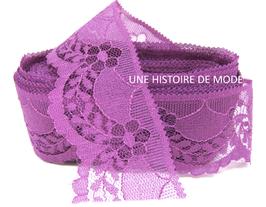 1 mètre de dentelle violette de 40 mm de largeur - D87