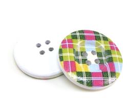 2 Gros bouton en bois écossais - 30 mm - BT055