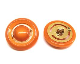 Gros bouton orange fantaisie - 26 mm - BT097