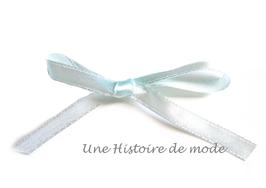 1 mètre de ruban en satin bleu clair - 6 mm