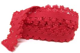 Ruban élastique dentelle rouge - 20 mm