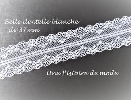 1 mètre de dentelle blanche séparable -  37 mm -  D71