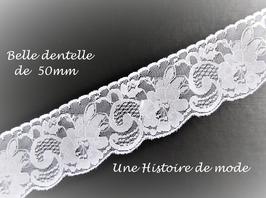 1 mètre de dentelle blanche  -  50 mm -  D133