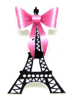 Cabochon tour Eiffel en résine -  47 x 32 mm - CCW6