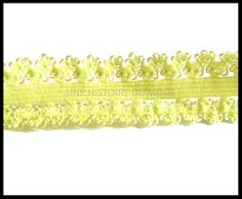 Ruban élastique dentelle jaune de 20 mm de largeur