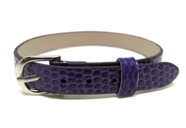 Bracelet en simili cuir violet - 22 cm - BB06