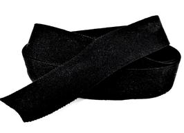 Ruban élastique noir - 15 mm ( au mètre )