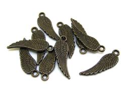 10 breloques ailes plumes bronze 17 x 5 mm - TR045