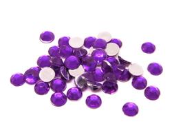 100 strass 4 mm en acrylique violet  - CCW44